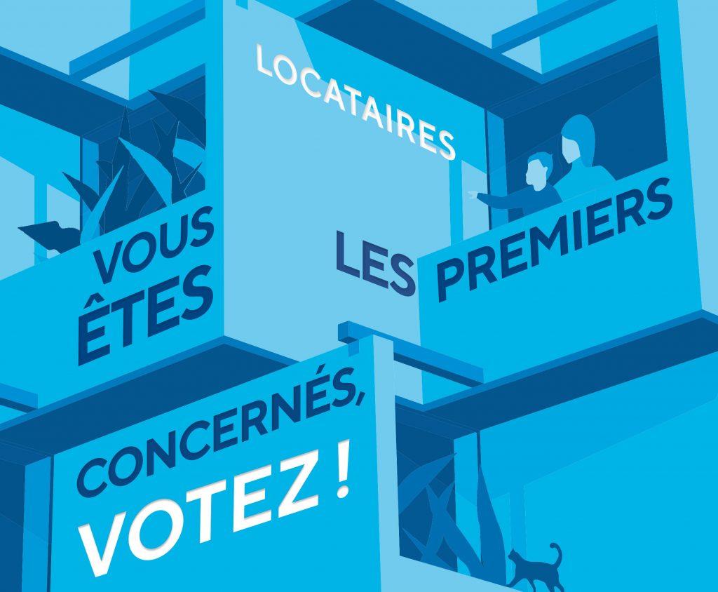 Affiche pour l'élection des représentants des locataires