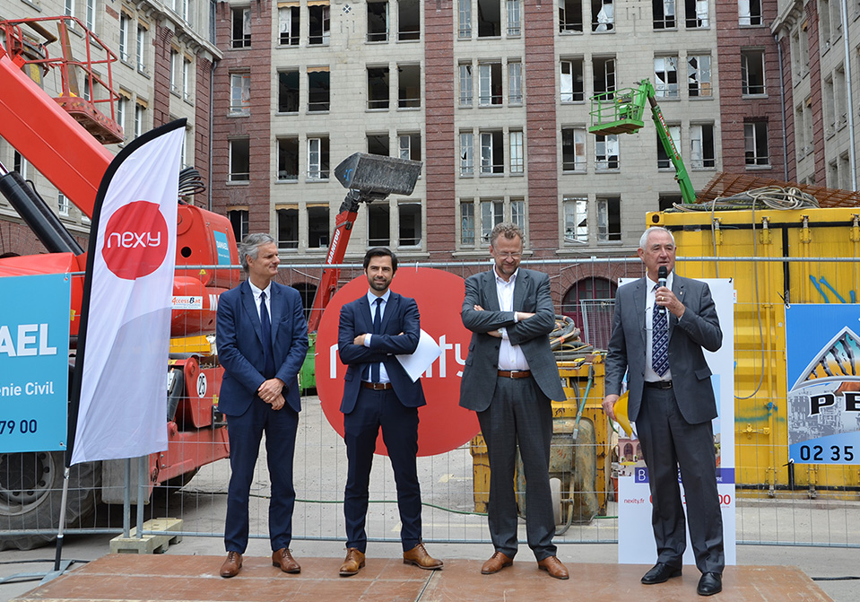 Lancement des travaux de l'ancienne caserne des pompiers au Havre