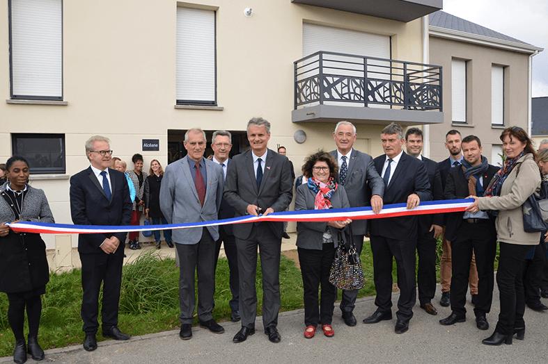 Photo d'inauguration de la résidence Le Nerval Fontenay