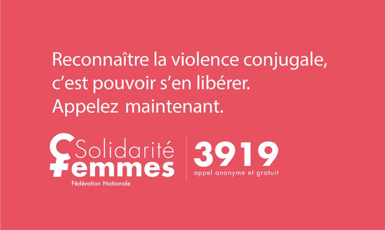 Affiche du nuéro de Violence femmes info